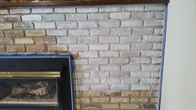 Whitewashing a Brick Fireplace - Leah and Joe: Home DIY Projects ...
